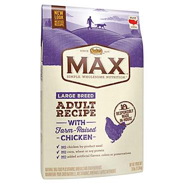 Nutro Max Recipe With Farm Raised Chicken Large Breed Adult Dry Dog Food