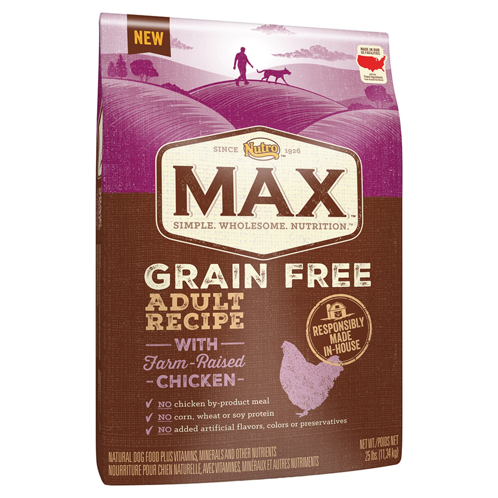 Nutro Max Grain Free Adult Dog Food Natural Chicken