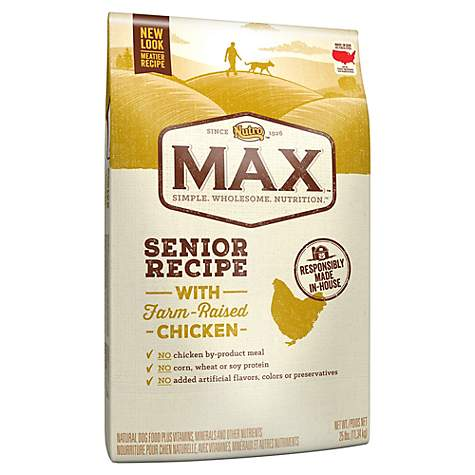 Nutro Max With Farm Raised Chicken Senior Recipe Dry Dog Food
