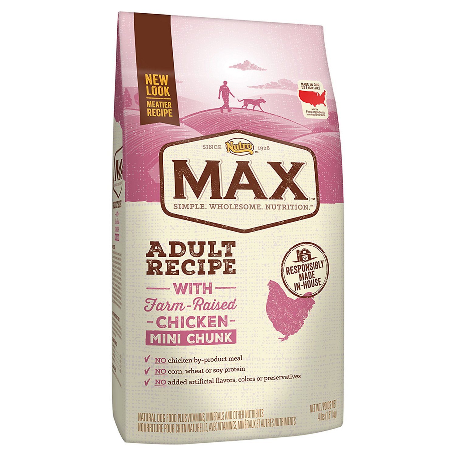 ... UPC 079105119924 product image for Nutro Max Adult Recipe with  Farm-Raised Chicken Mini- ...