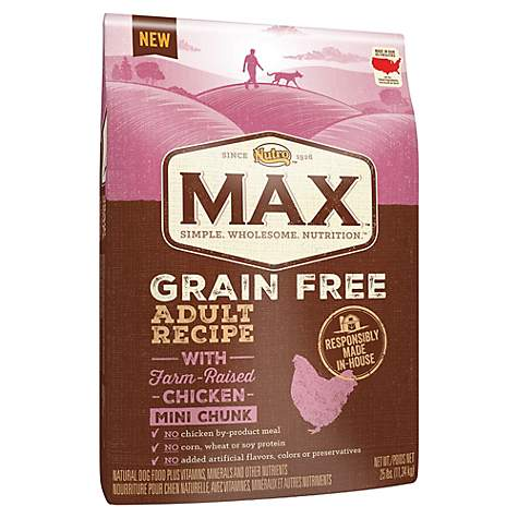 NUTRO MAX Grain Free Recipe With Farm Raised Chicken Mini Chunk Dry Adult Dog Food