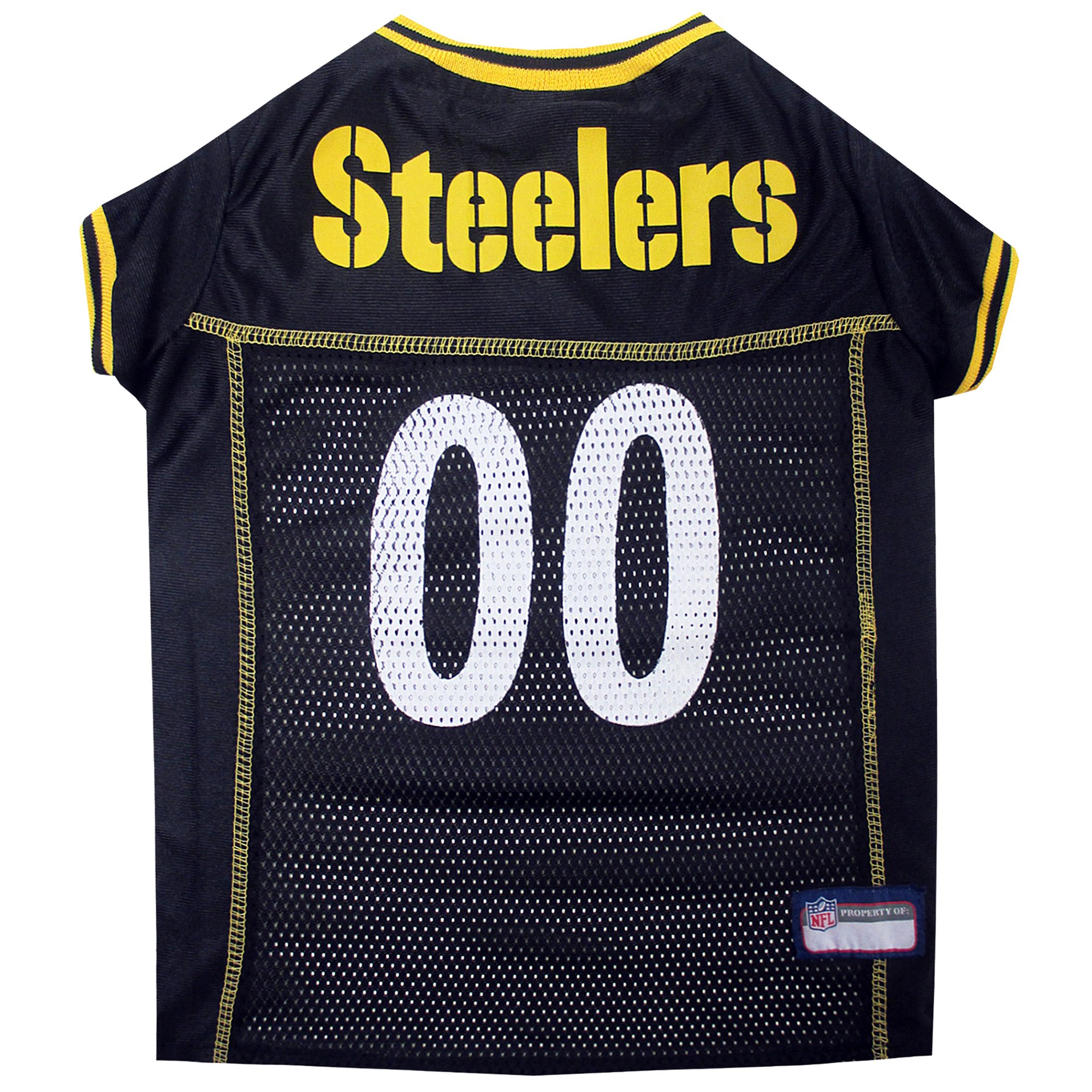 low priced 61c8c ebec5 Pets First Pittsburgh Steelers NFL Mesh Pet Jersey, X-Small | Petco