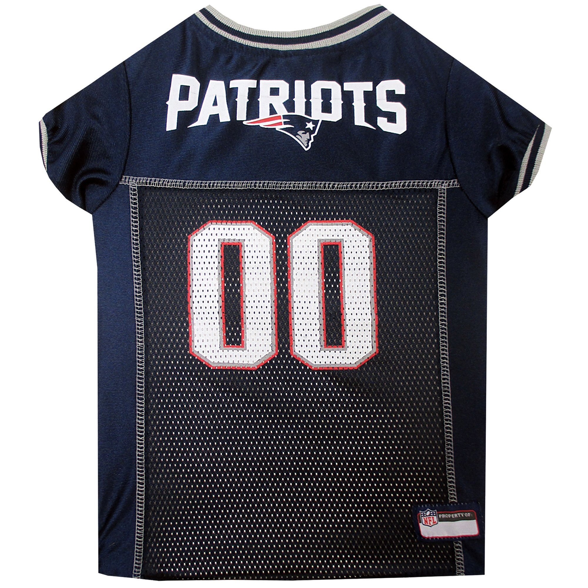 pretty nice f93ab 1aa49 Pets First New England Patriots NFL Mesh Pet Jersey, X-Small | Petco