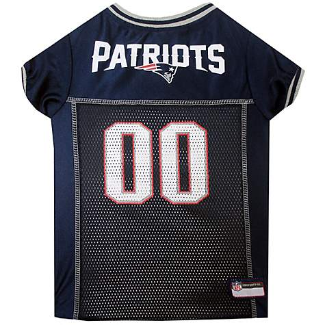 premium selection e3c5c c04b8 Pets First New England Patriots NFL Mesh Pet Jersey, X-Small