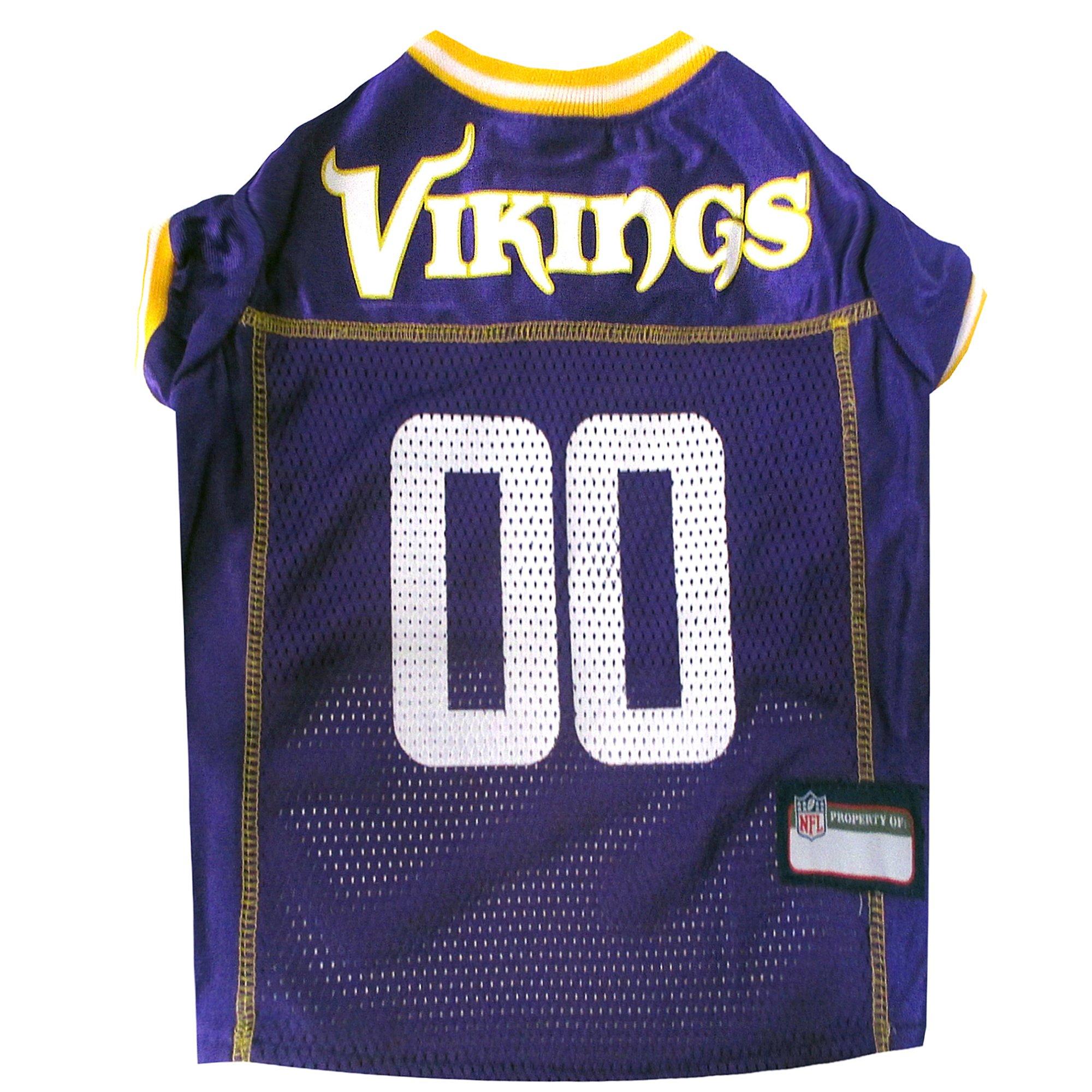 lowest price fbab3 4d3d5 Pets First Minnesota Vikings NFL Mesh Pet Jersey, X-Small