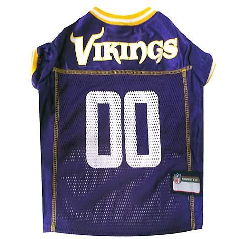 lowest price 19276 86d8a Pets First Minnesota Vikings NFL Mesh Pet Jersey, X-Small
