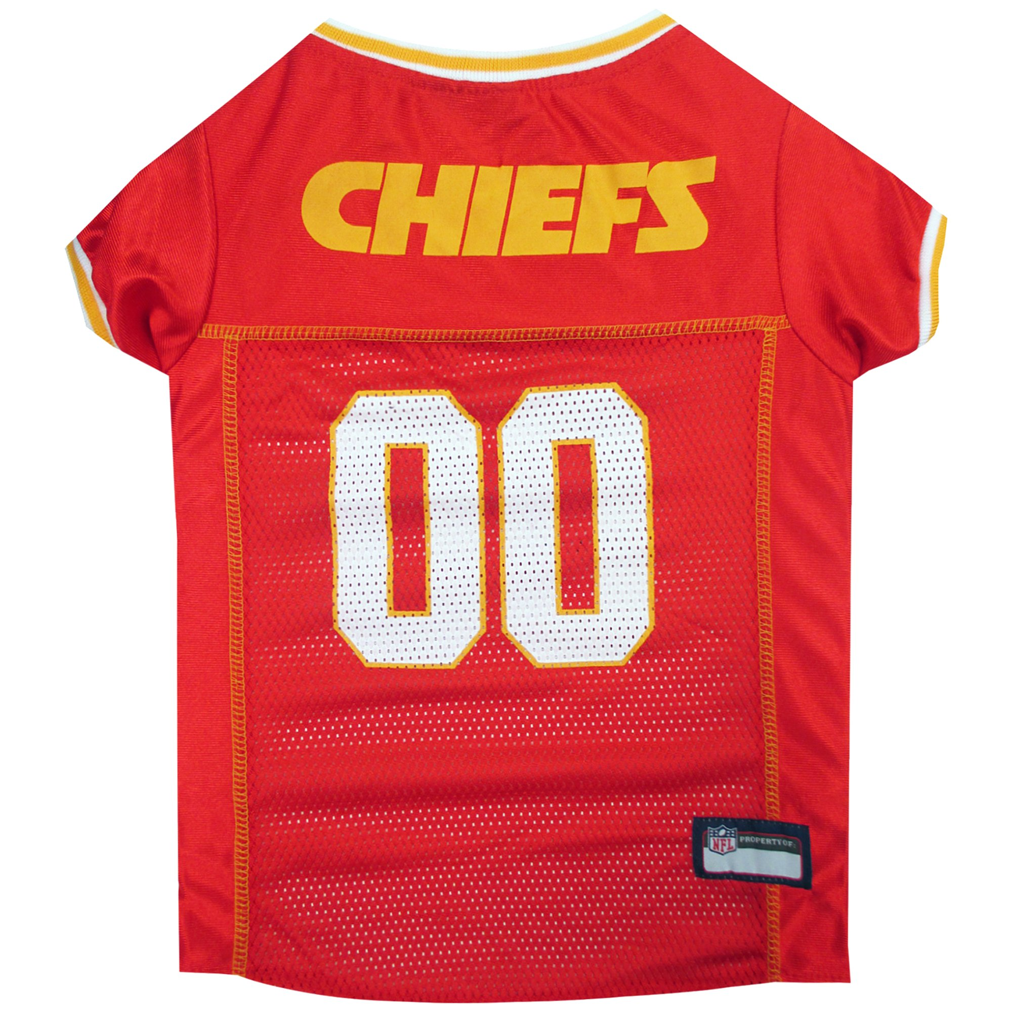 newest collection 0c32a d46a4 Pets First Kansas City Chiefs NFL Mesh Pet Jersey, X-Small | Petco