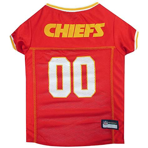 brand new 08b1d 0e9c1 Pets First Kansas City Chiefs NFL Mesh Pet Jersey, X-Small