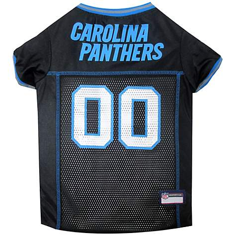 big sale 64ee6 92ad8 Pets First Carolina Panthers NFL Mesh Pet Jersey, X-Small