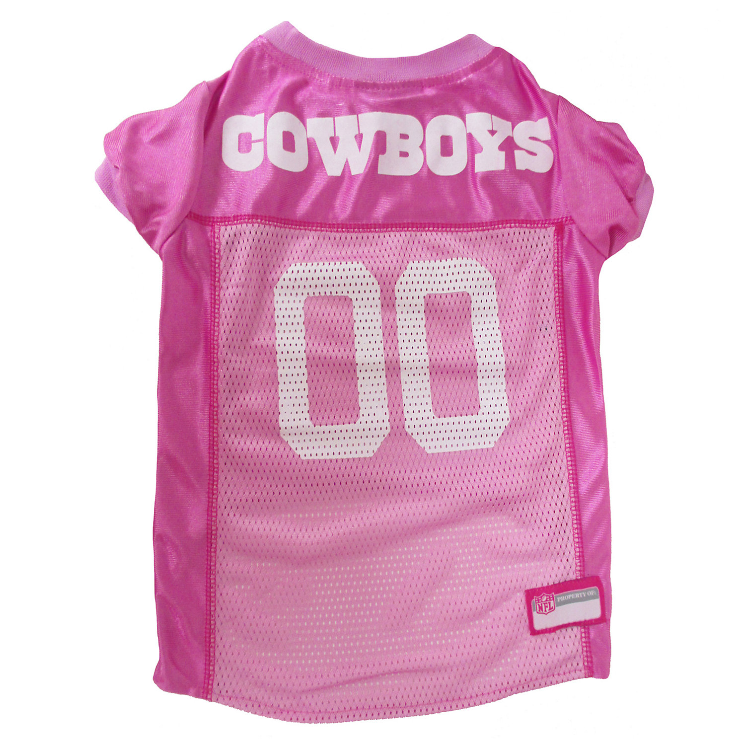 Pets First Dallas Cowboys Nfl Pink Mesh Jersey, X-small
