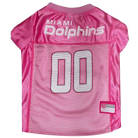 Pets First Miami Dolphins NFL Pink Mesh Jersey
