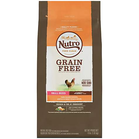 Nutro Grain-Free Farm-Raised Chicken, Lentils and Sweet Potato Recipe Dry Small Breed Adult Dog Food