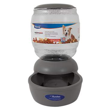 Petmate Replendish Gravity Feeder Grey Dog Bowl