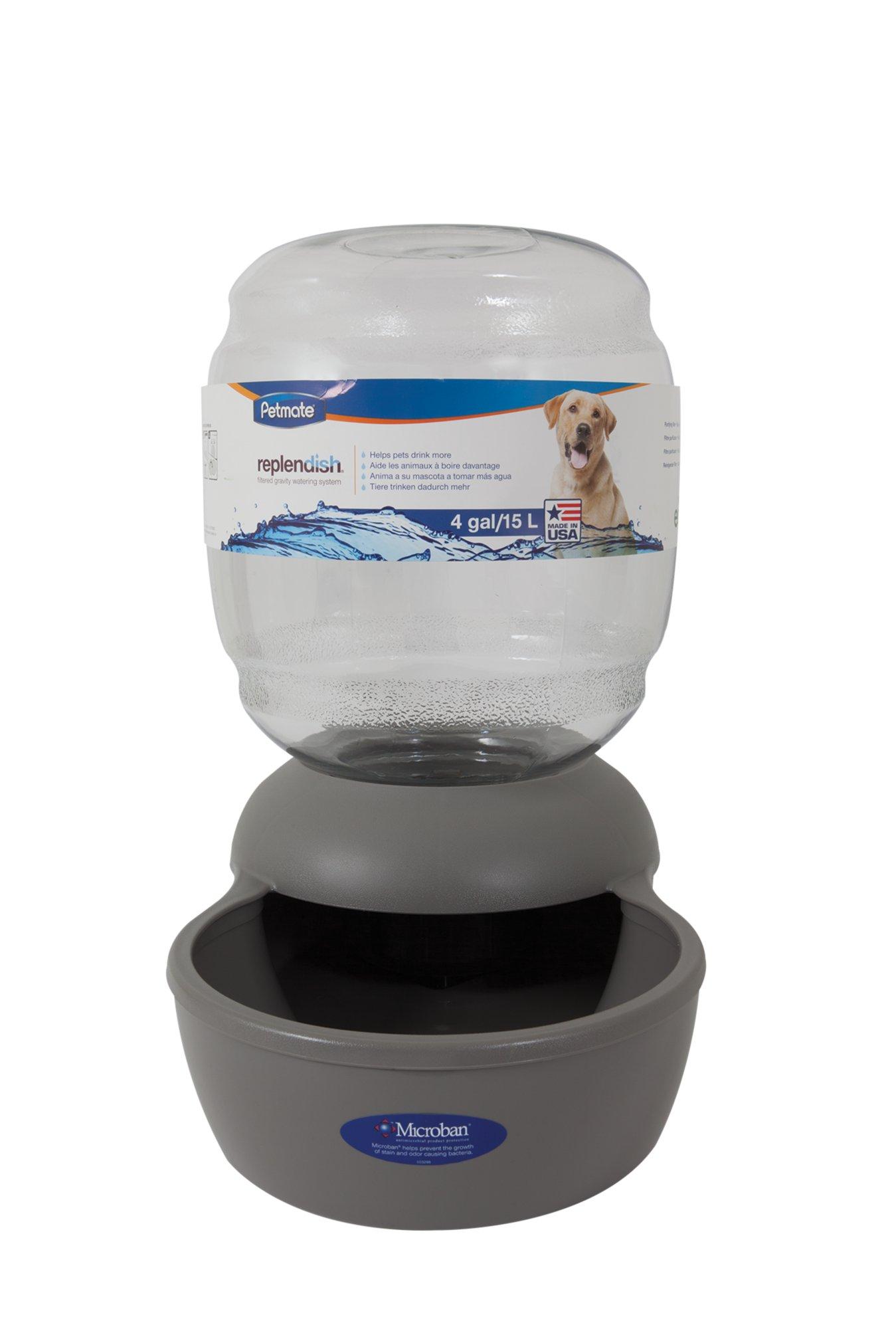 Gravity Bowl petmate replendish gravity waterer grey dog bowl | petco