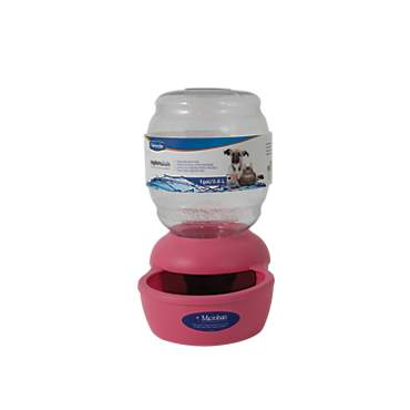 Petmate Replendish Gravity Waterer Pink Dog Bowl
