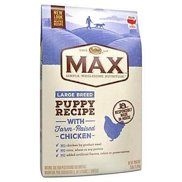 Nutro Max Recipe With Farm Raised Chicken Dry Large Breed Puppy Dog Food