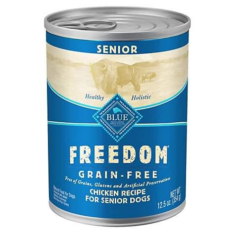 Blue Buffalo Blue Freedom Grain Free Senior Chicken Recipe Wet Dog