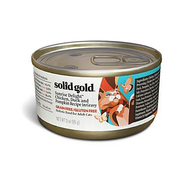 Solid Gold Wholesome Selects Chicken, Duck & Pumpkin in Gravy Holistic Grain Free Canned Adult Cat Food