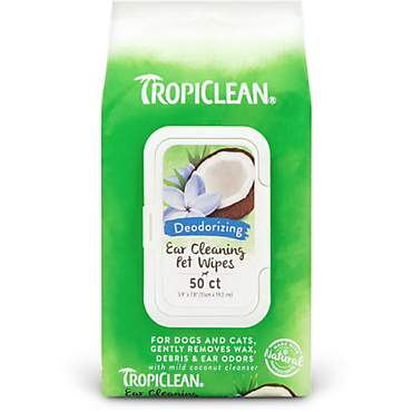 TropiClean Ear Cleaning Dog Wipes