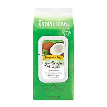 TropiClean Hypoallergenic Dog Wipes
