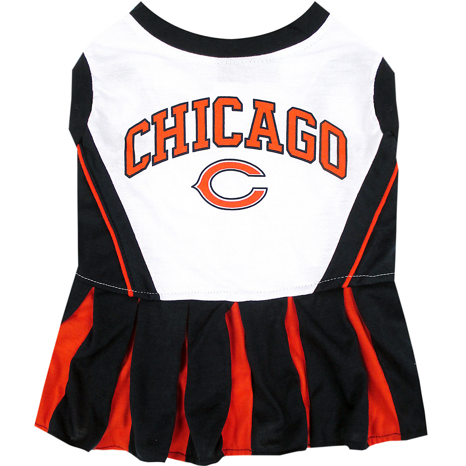 Pets First Chicago Bears Nfl Cheerleader Outfit Extra Small X Small Blue