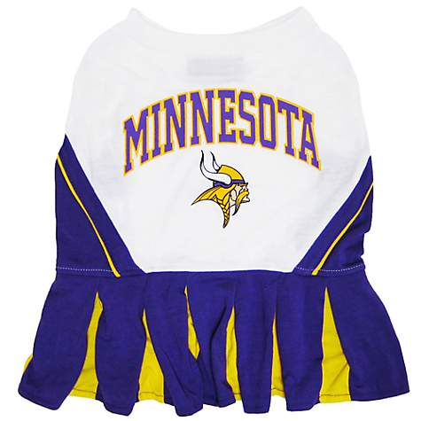Pets First Minnesota Vikings NFL Cheerleader Outfit