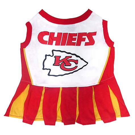 uk availability be56f 480fd Pets First Kansas City Chiefs NFL Cheerleader Outfit, X-Small