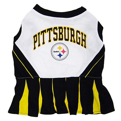 best service 887cd 2b565 Pets First Pittsburgh Steelers NFL Cheerleader Outfit, Medium