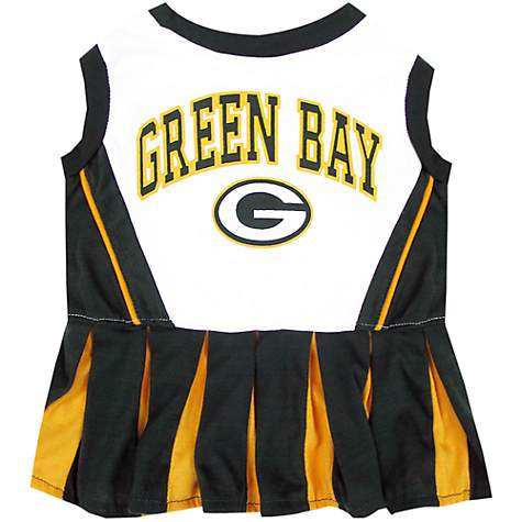 Pets First Green Bay Packers NFL Cheerleader Outfit  9214a9da3