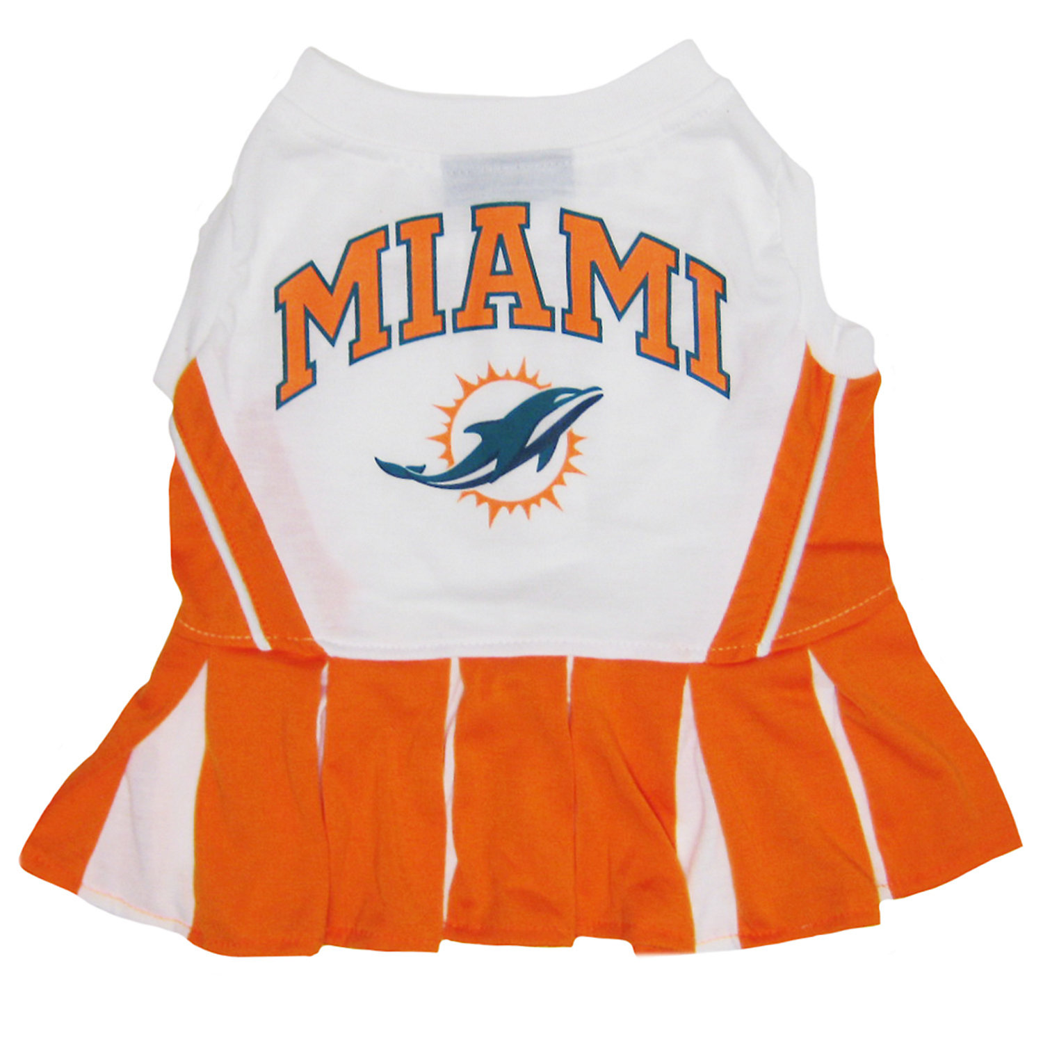 Pets First Miami Dolphins Nfl Cheerleader Outfit Small Orange