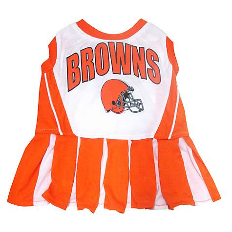 e1a96146 Pets First Cleveland Browns NFL Cheerleader Outfit, X-Small