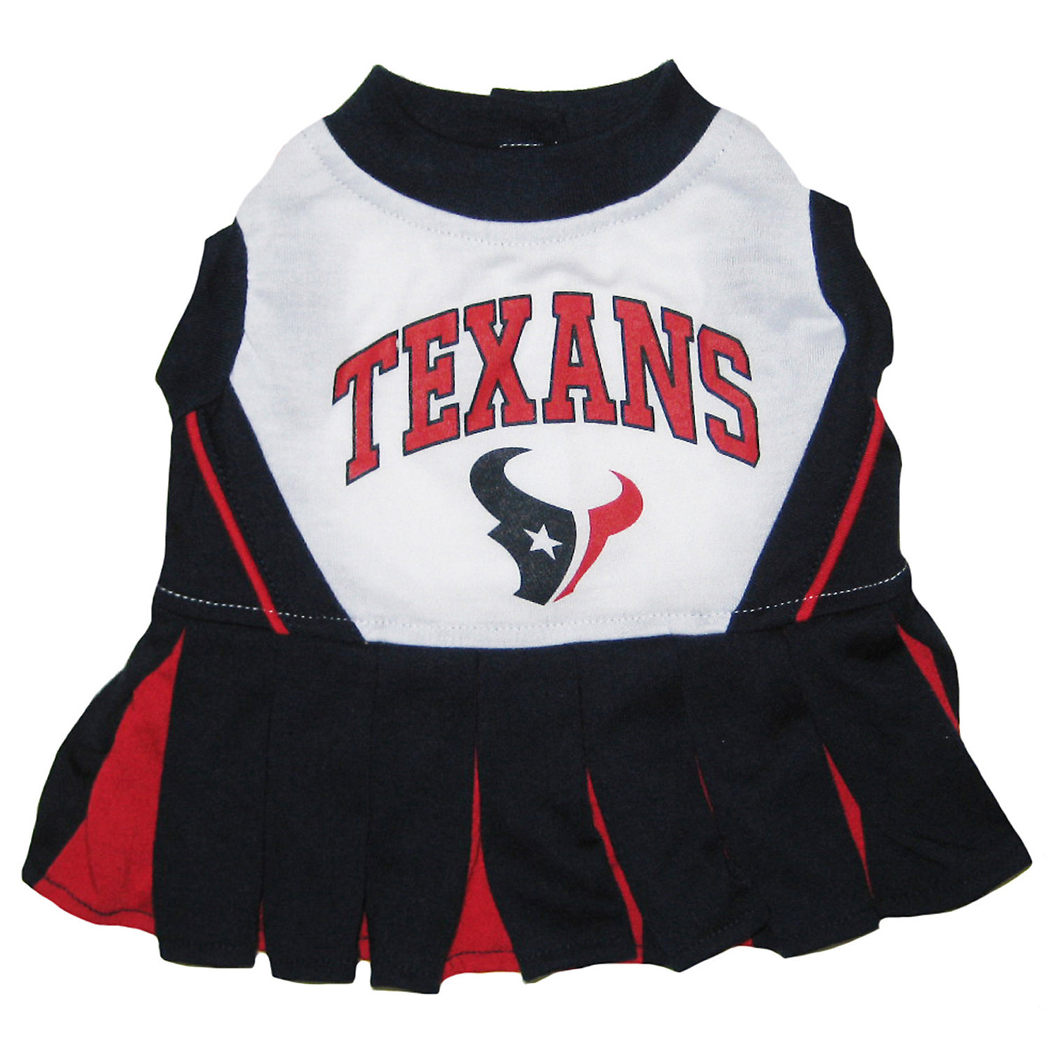 Pets First Houston Texans Nfl Cheerleader Outfit Small Blue