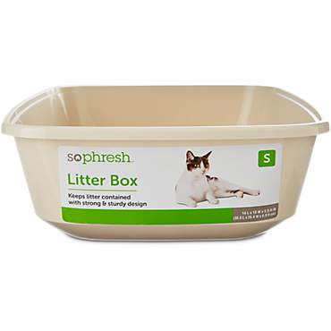 So Phresh Open Kitten Litter Box in Linen