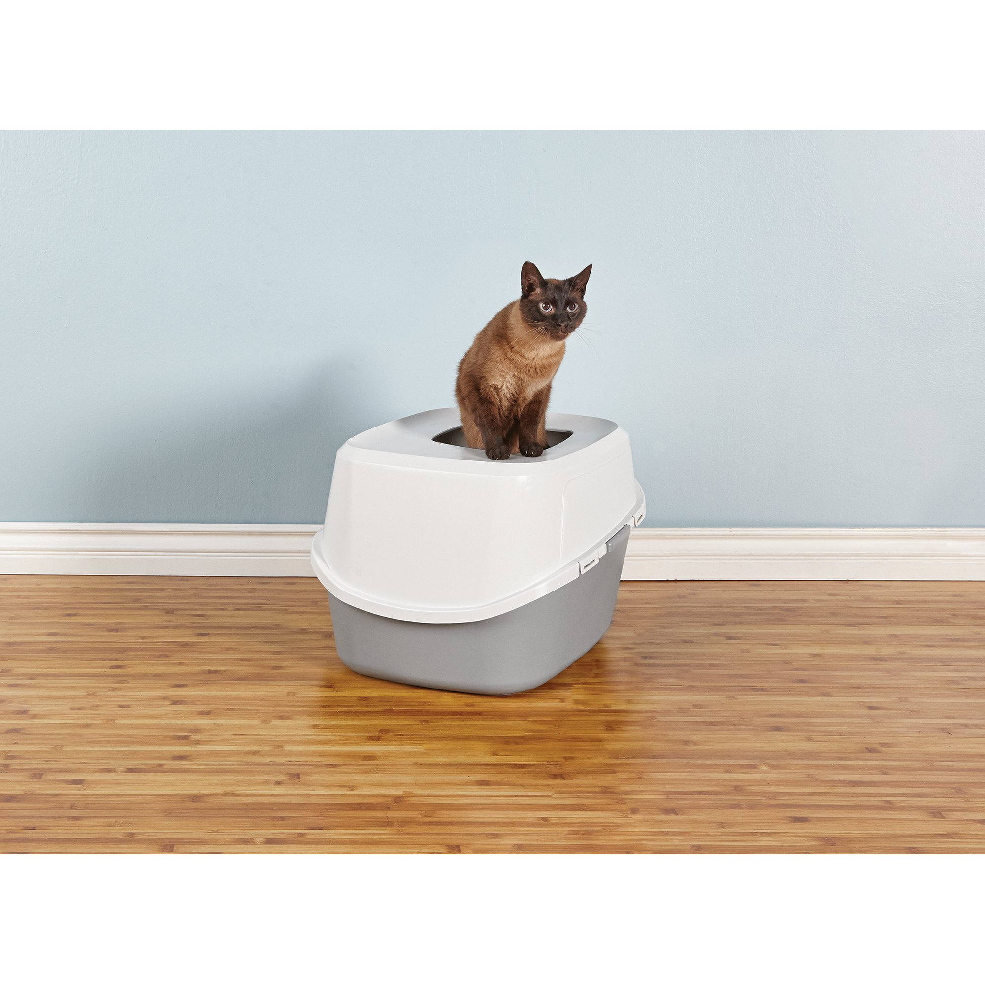 so phresh jumbo top entry cat litter box in grey  sc 1 st  careermetro.us & Cat Litter Box.Nice Litter Cabinethow Awesome Would This Be More ... Aboutintivar.Com