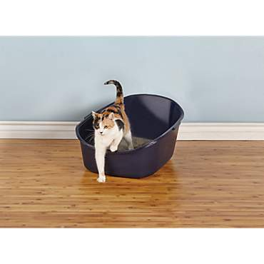 So Phresh High-Back Litter Box in Navy
