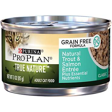 Pro Plan True Nature Adult Grain Free Natural Trout & Salmon Entree Classic Canned Cat Food