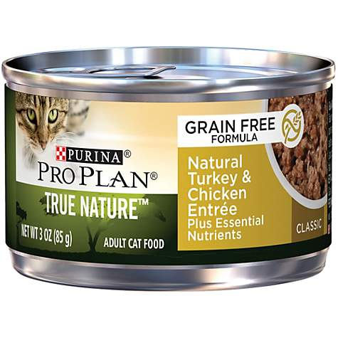 Pro Plan True Nature Adult Grain Free Natural Turkey & Chicken Entree Classic Canned Cat Food