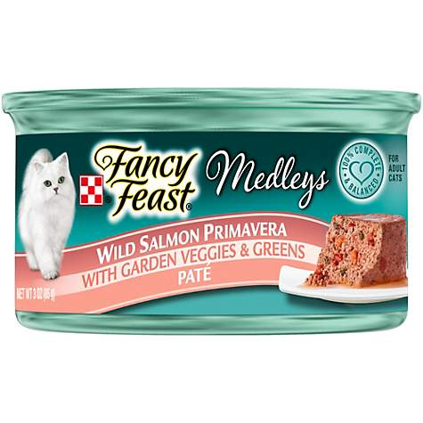 Purina Fancy Feast Medleys Pate Wild Salmon Primavera With Garden Veggies & Greens Adult Wet Cat Food