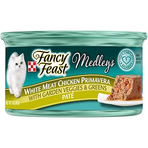 Purina Fancy Feast Medleys Pate White Meat Chicken Primavera With Garden Veggies & Greens Adult Wet Cat Food