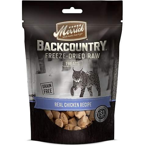 Merrick Backcountry Real Chicken Recipe Freeze Dried Raw Cat Treats