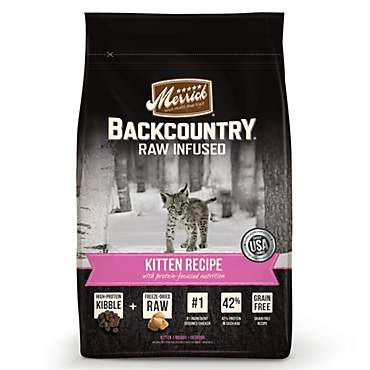 Merrick Backcountry Grain Free Raw Infused Kitten Recipe Dry Cat Food