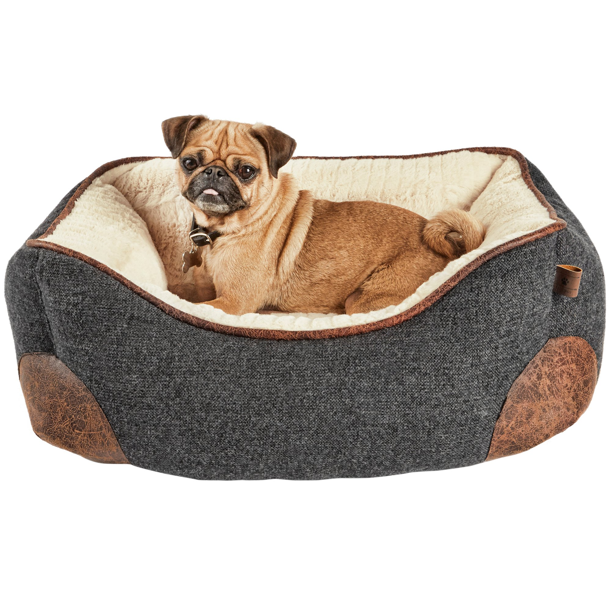 harmony grey nester memory foam dog bed - Bed