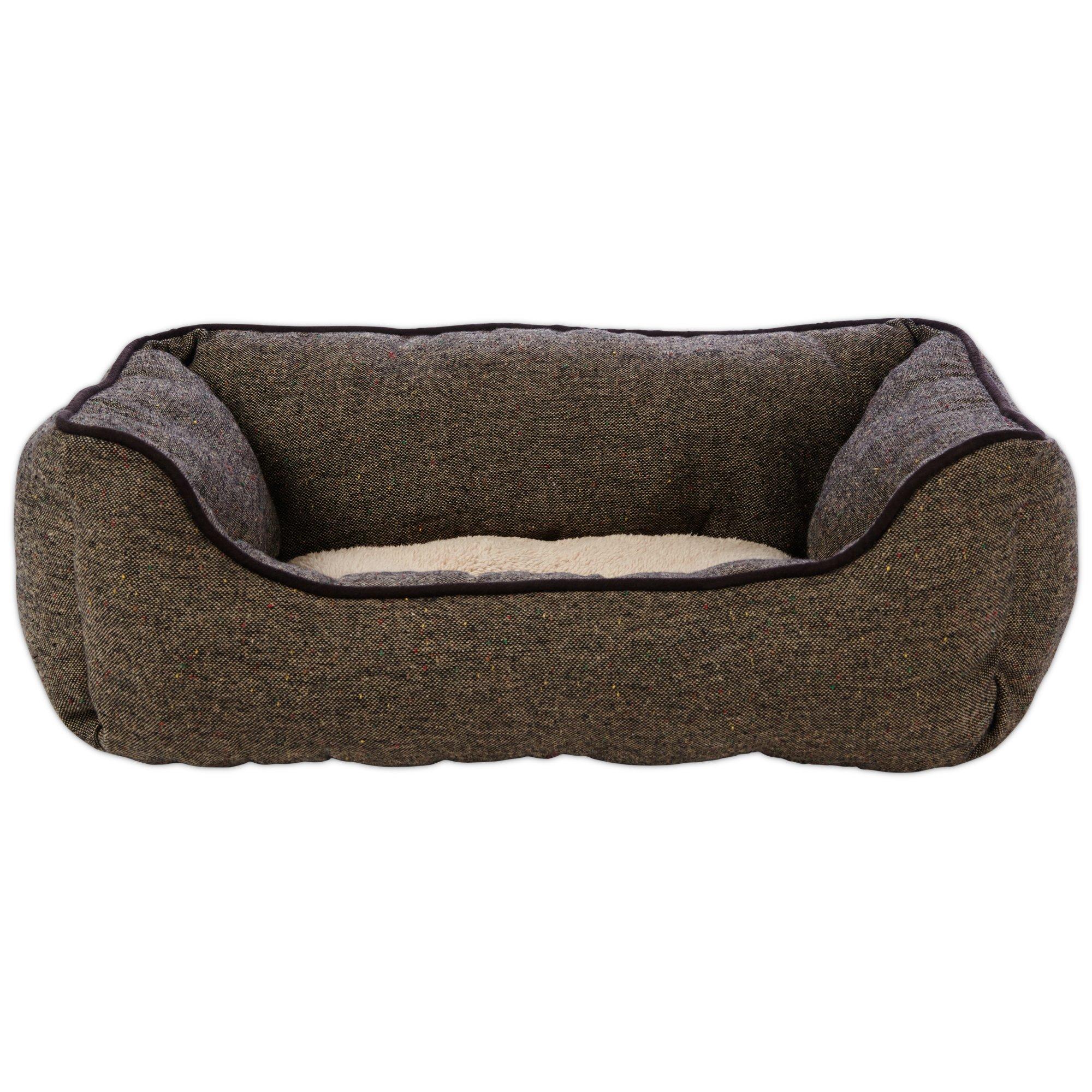 Brown Check Dog Beds