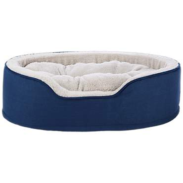 Harmony Cuddler Orthopedic Dog Bed in Blue