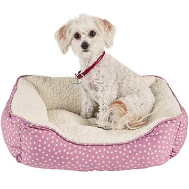 Harmony Pink Dot Nester Dog Bed