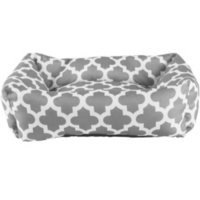 Deals on Harmony Grey Lattice Print Nester Dog Bed, 24-inch L x 18-inch W
