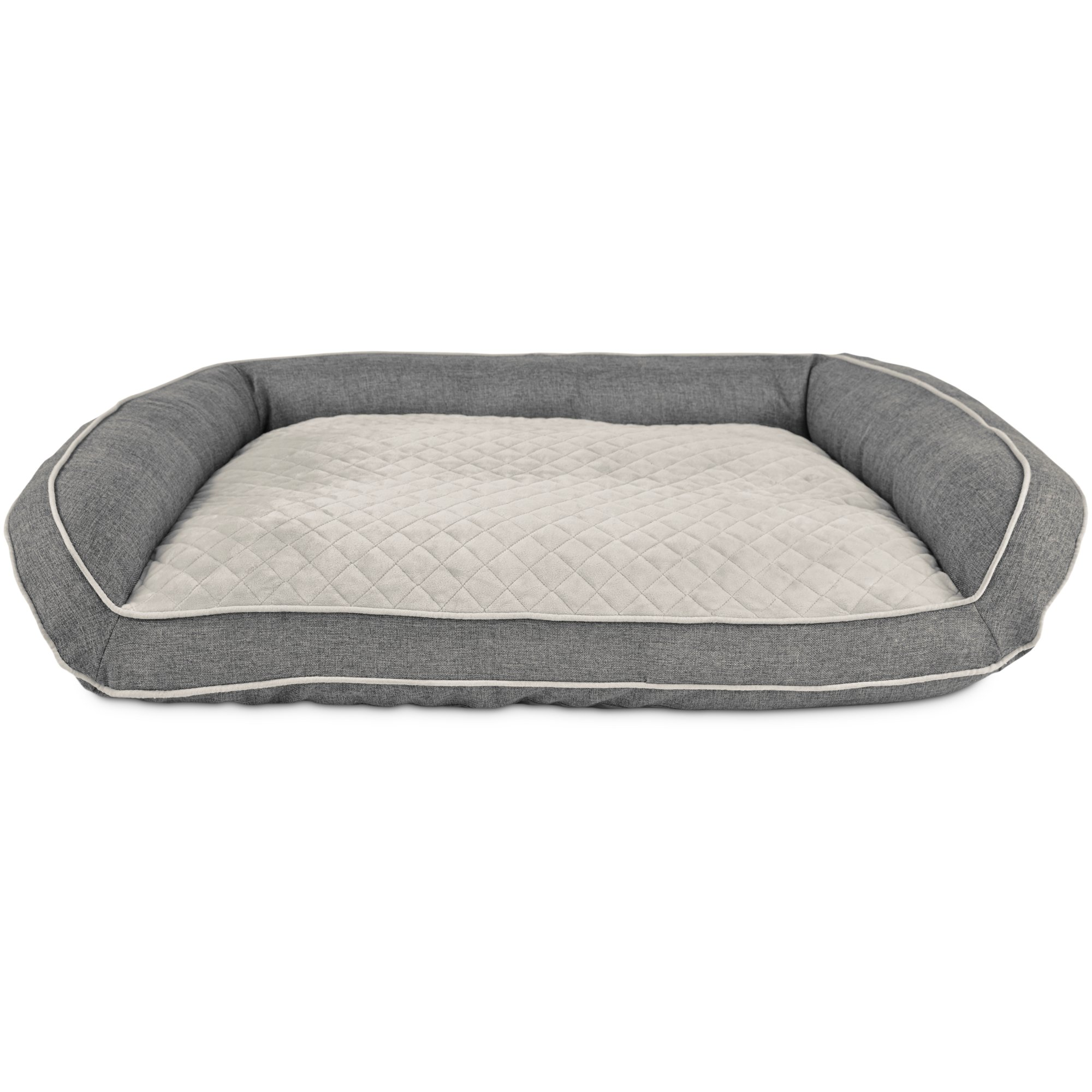 Harmony Memory Foam Couch Dog Bed In Silver Petco