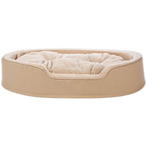 Harmony Cuddler Orthopedic Dog Bed in Khaki