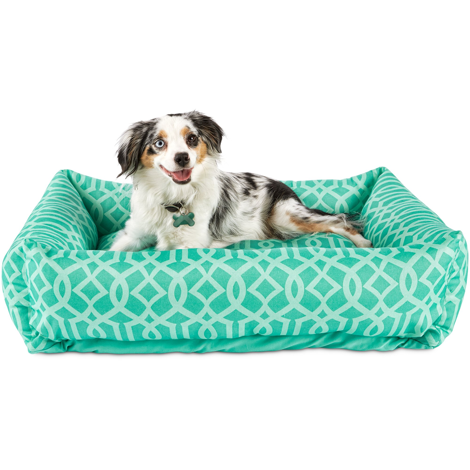 harmony teal nester memory foam dog bed