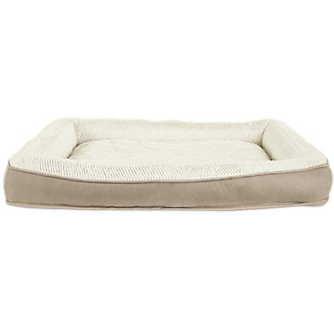 Harmony Khaki Lounger Memory Foam Dog Bed